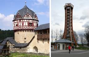 Sehenswürdigkeiten - Schloss Burgk und Aussichtsturm